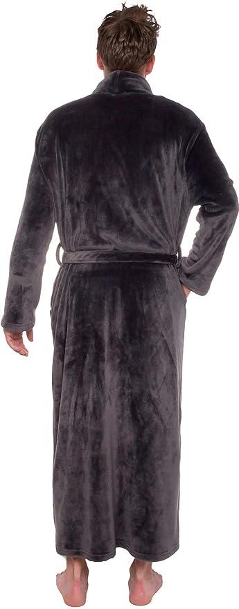 3e09a0707f Ross Michaels Mens Long Robe - Full Length Big   Tall Bathrobe at Amazon  Men s Clothing store