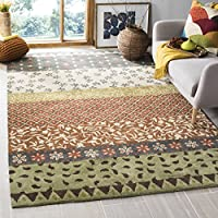 Safavieh Bella Collection BEL351A Handmade Ivory and Multi Premium Wool Area Rug (4 x 6)