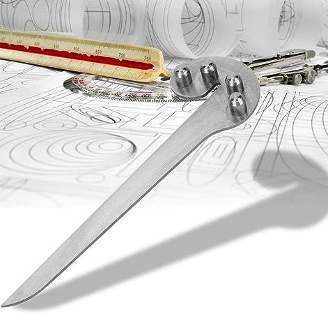 AmandaJ 150 mm centro buscador indicador para carpinter/ía Herramientas manuales de /ángulo marcado de metal mecanizado Wookworking centro medidor
