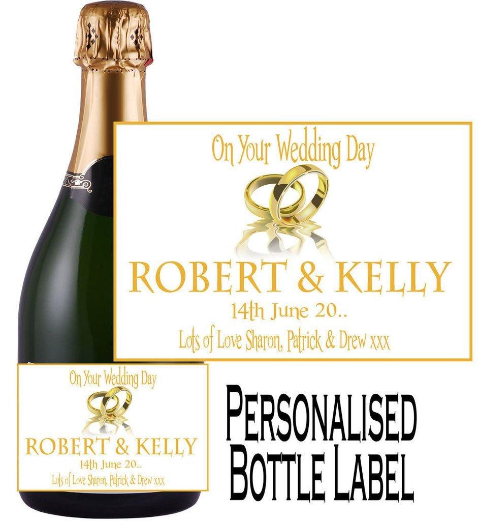 Eternal Design personnalisé étiquette de bouteille de champagne de mariage Wdcl 19