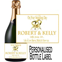 Eternal Design Personalised Wedding Day Champagne Bottle Label WDCL 19