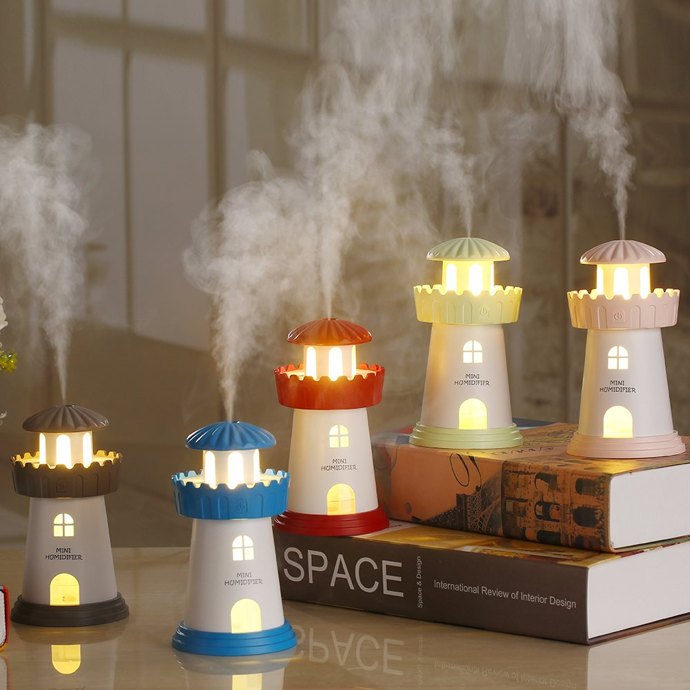 Cool Mist Humidifier,Ayans 150ML Mini Lighthouse USB Air Purifier Humidifiers with LED Night Light for Car,Home,Office,Bedroom,Living Room by Ayans (Image #4)
