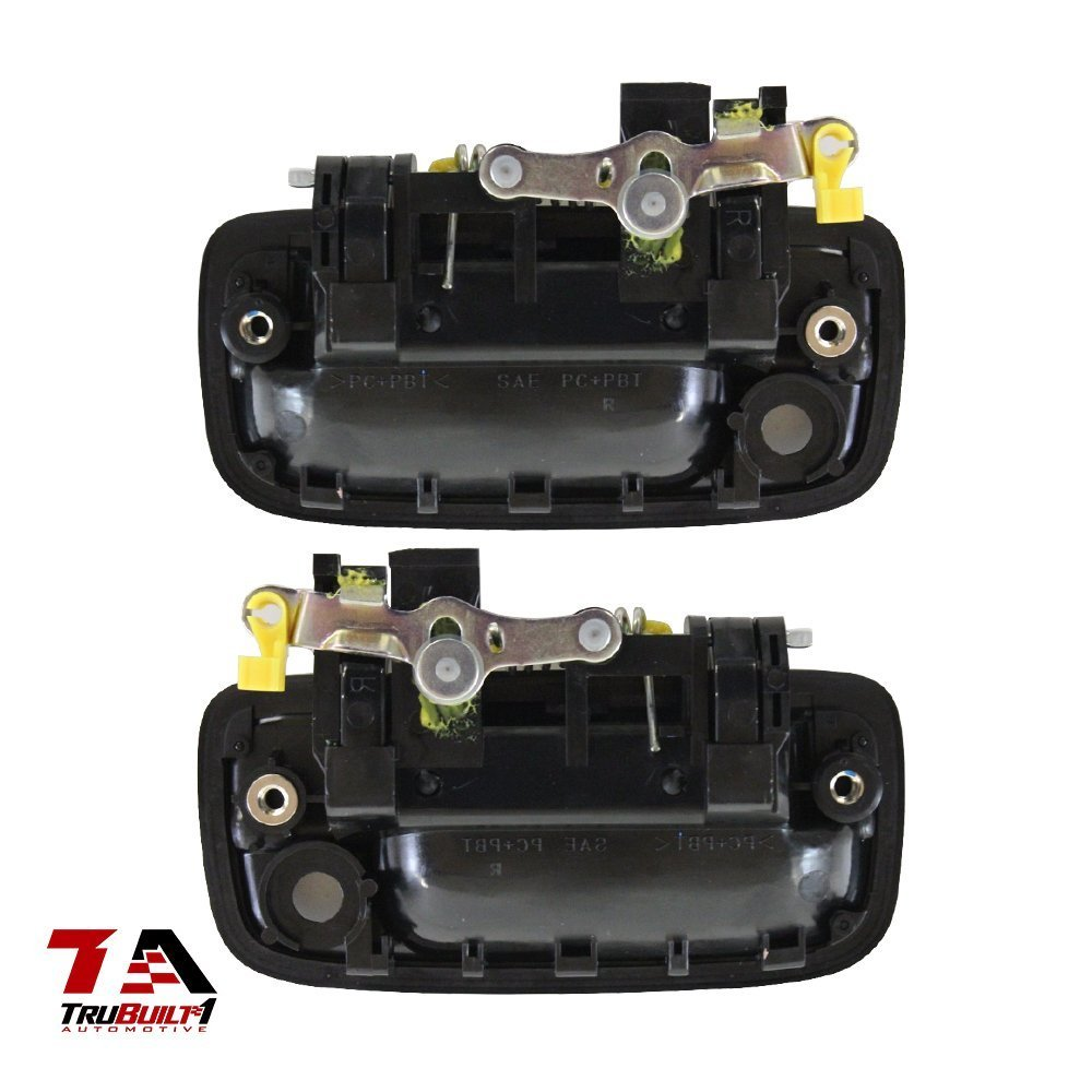 left and right TruBuilt 1 Automotive 1 Pair Replacement Toyota 69220-35020 /& 69210-35020 Black Front Exterior Door Handles Toyota Tacoma 1995 1996 1997 1998 1999 2000 2001 2002 2003 2005 Replacement For