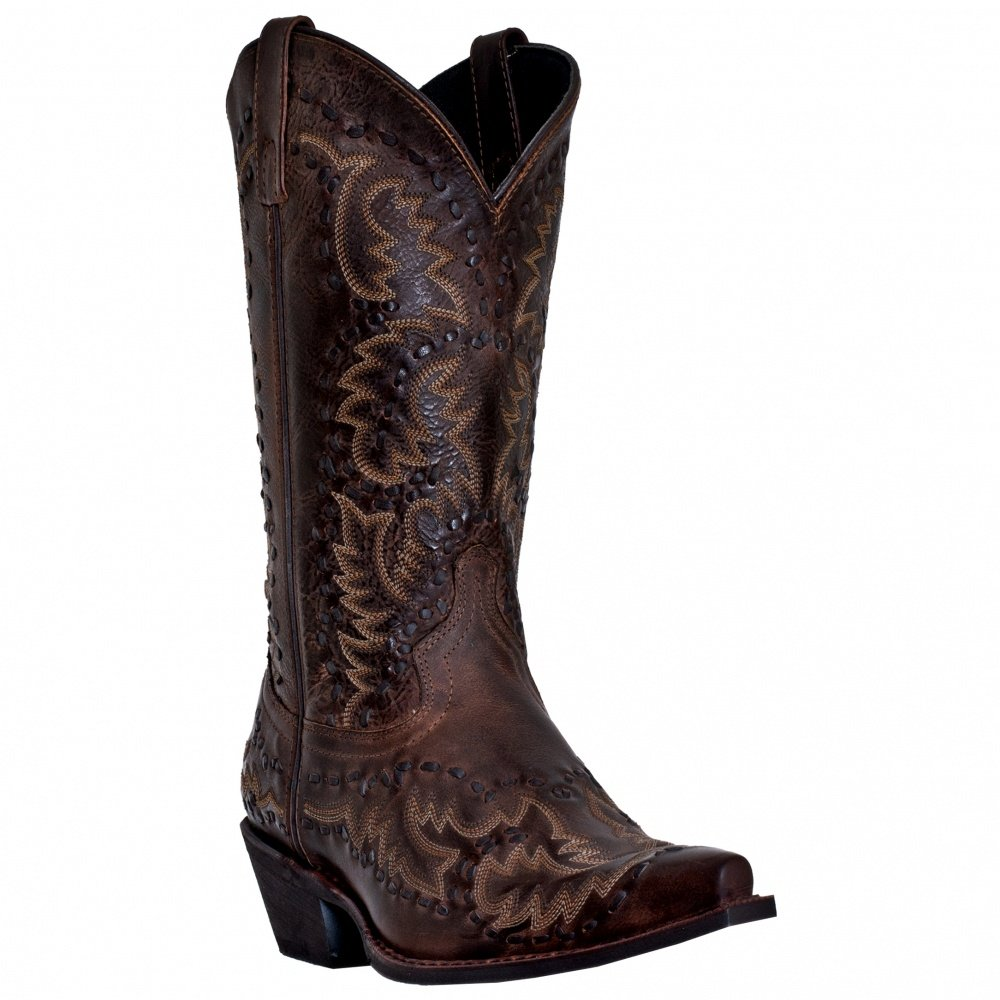 Laredo Men's Midnight Rider Western Boot, Brandy, 8.5 XW US