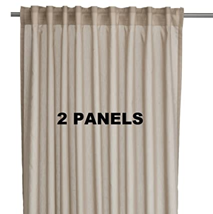 Amazon Ikea VIVAN Pair Of Curtains Drapes 2 Panels Beige
