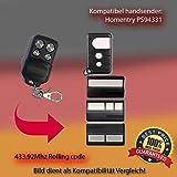Handsender 433.92 MHz für Homentry PS94331 Antriebe