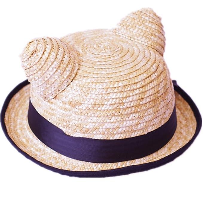 JIANCHIJY Cappello di Paglia Cappelli per Bambini Cappello da Sole Nessun  Visualizzatore Estate Sunhat  Amazon.it  Abbigliamento 10d7122e1ccc
