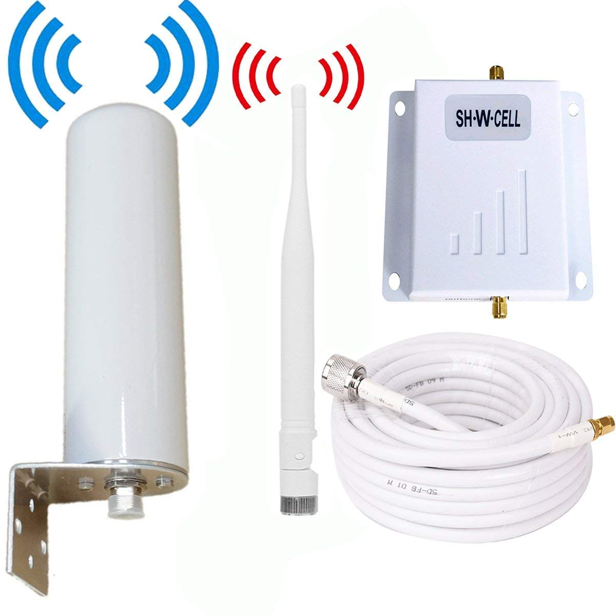 Verizon Cell Phone Signal Booster 4G LTE Cell Signal Booster Verizon 700Mhz FDD Band13 Mobile Signal Booster Cell Phone Signal Amplifier Repeater with Indoor Whip+Outdoor Omni Antennas Kits for Home by SH·W·CELL