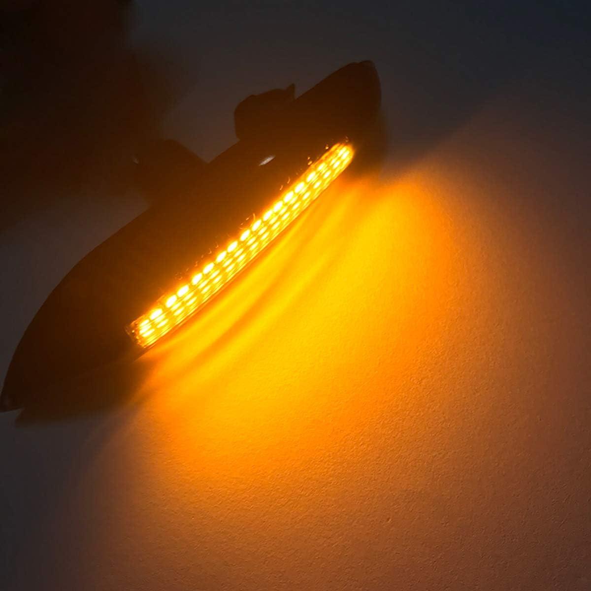 ROSEBEAR Paquete de 2 12V 5W L/ámpara Din/ámica Secuencial de Luz Lateral Ahumada para E92 E93 X1 E84 X3 E83 X5 E53 E46 E36 E90 E91 E60 E61 E81 E82 E87 E88