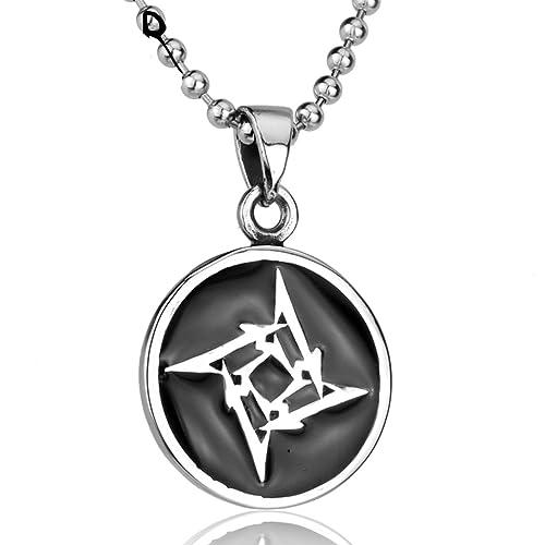 Moandy Moda Joyería Collar Metallica Ninja Star Colgante ...