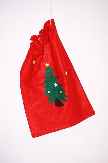 Caja de regalo con diseño de árbol de Navidad en forma de saco de Papá Noel con diseño de Papá Noel de árbol de Navidad: Amazon.es: Hogar