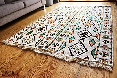 Chehade GmbH Carpet 135x200 cm,4,5'x6,5', Oriental Carpet Kilim Rug Kelim/Floor Mat,Tapestry wall hanging,Floor runner, Area Rug, Rugs,Teppich,Läufer,Tapis,Tapiz,alfombra S 1-4-43