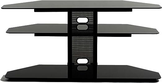 TransDeco - Soporte de Esquina para televisor con 2 estantes AV ...