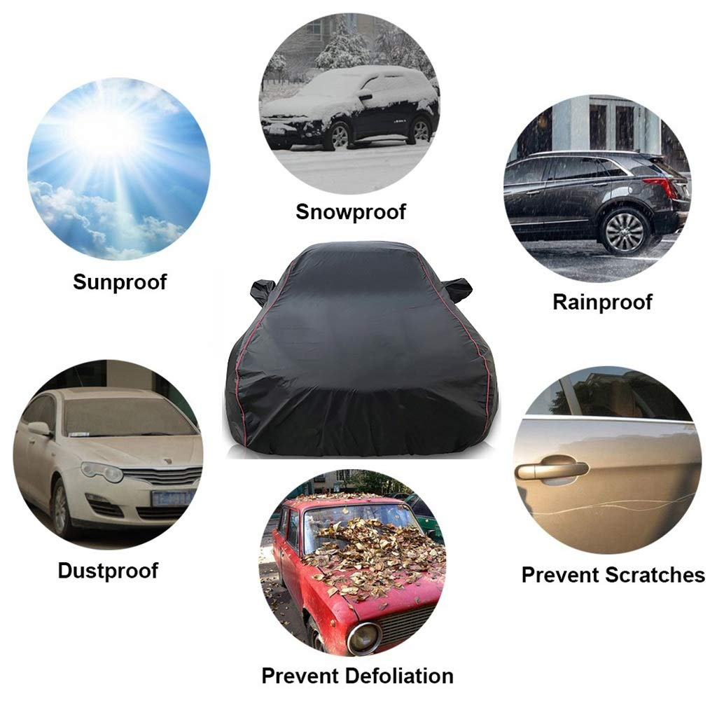 Car Covers Compatible with Jaguar I-PACE Rain Snow Proof UV Sun Protection Breathable Cover Outdoor Waterproof All Weather Windproof Dustproof Exterior Accessories Covers Color : Silver-Cotton, Size : Oxford