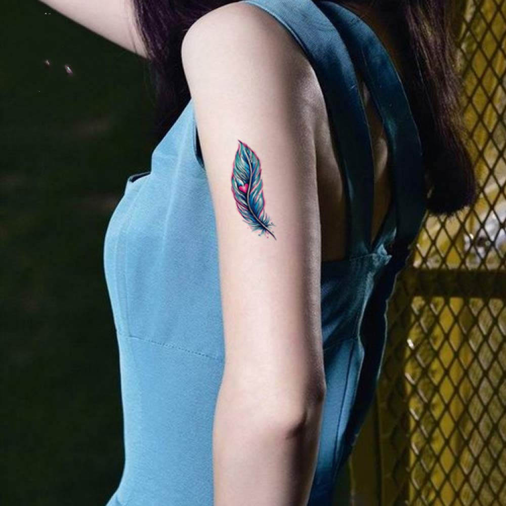 5piezas Pegatinas de Tatuaje Temporal a Prueba de Agua Arte ...