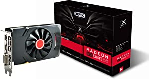 XFX Radeon RX 560 1295MHz,4gb GDDR5, 16CU,1024 SP, DX12, DP HDMI DVI, PCI-E AMD Graphics Card (RX-560P4SFG5)