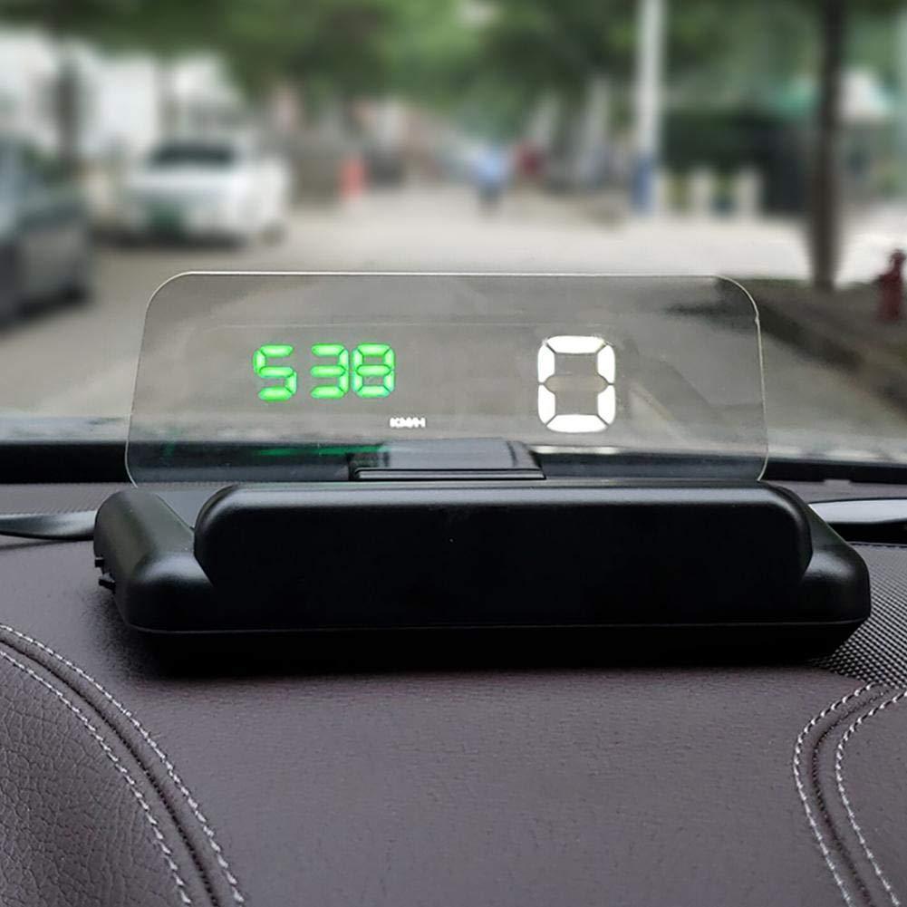 C500 HUD, OBD2 sistema de alerta de velocidad de visualización de la pantalla RPM velocímetro: Amazon.es: Juguetes y juegos