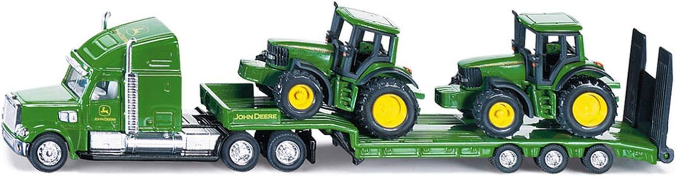 Siku 1837 - Cargador de baja con los tractores John Deere (colores surtidos)