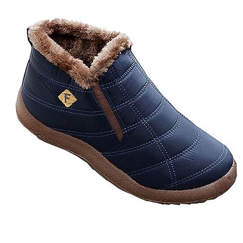 Uomo Donna Scarpe Invernali Stivali Piatto Caldo Caviglia Stivaletti Cotone  Pantofole Interno Outdoor b69d5214df9