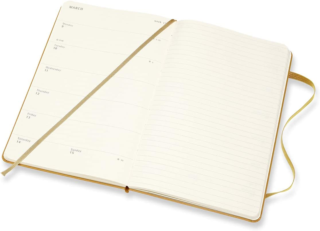 Ripe Yellow Moleskine 18 Month 2020-2021 Weekly Planner 5 x 8.25 Large Hard Cover