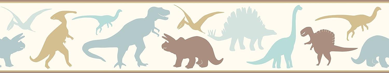 Blue Chesapeake BYR94302B Dino Mighties Dinosaur Toss Wallpaper Border