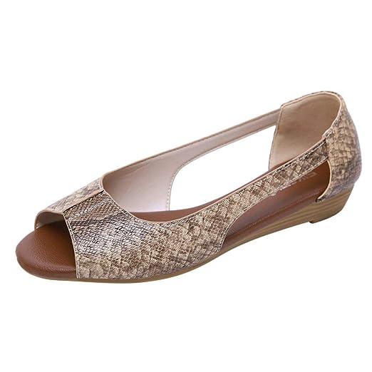 80e3e74620771 Amazon.com: Londony👠👠💞 Snake Printed Sandals Open Toe Sandals ...
