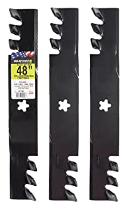 "MaxPower 561735X Commercial Mulching 3-Blade Set for 48""Cut Poulan/Husqvarna/Craftsman Replaces 173921, 532173921"