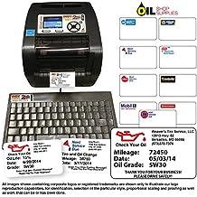 Oil Change Reminder Printer - System Kit w/ 1000 Stickers + Ink Ribbon