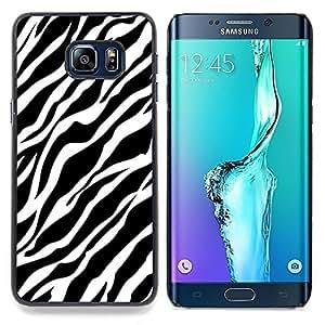 FOR Samsung Galaxy S6 Edge Plus Queen Pattern - Zebra Lines Fur Pattern Black White Clean - Doble capa de armadura de la cubierta del caso del protector -