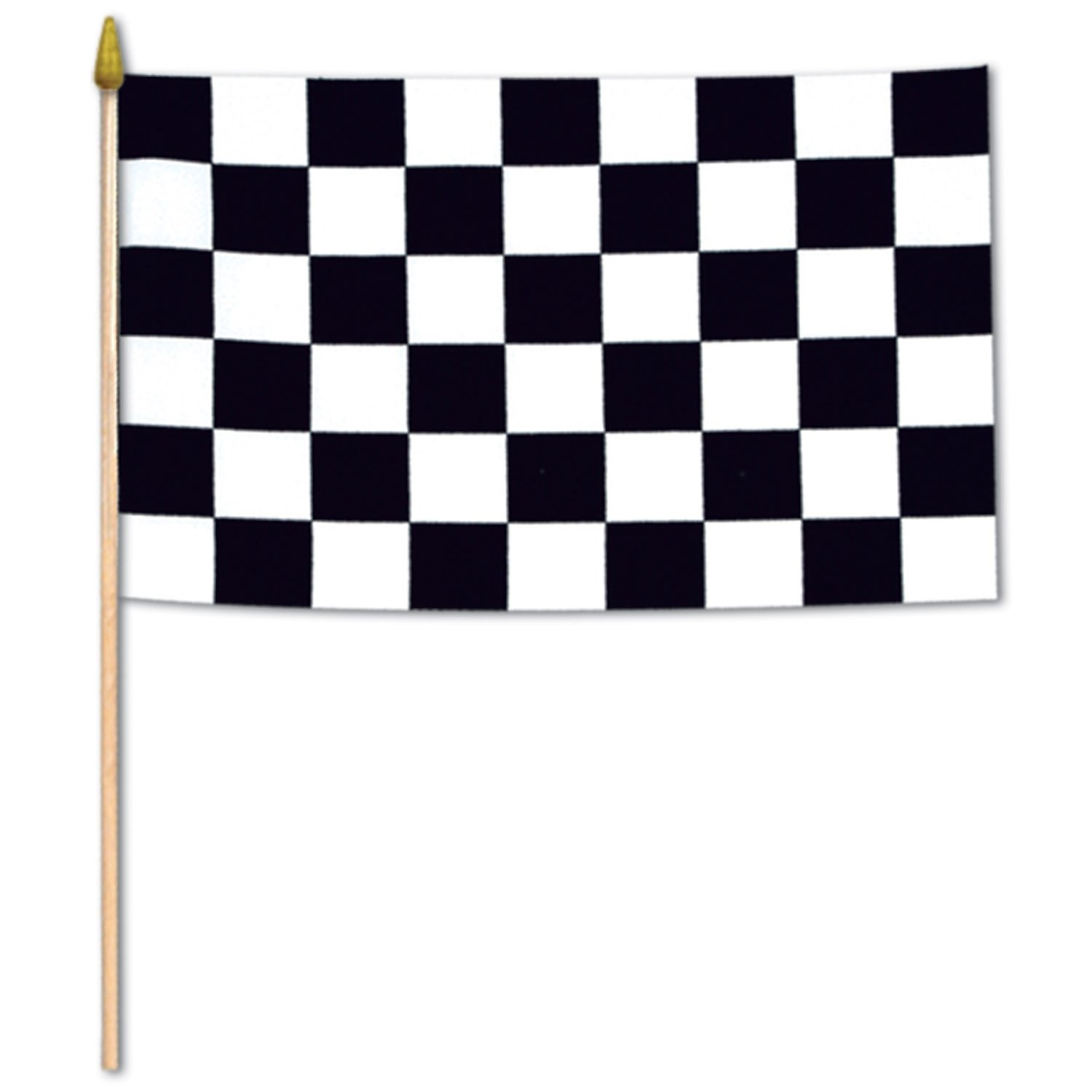 Beistle 50992 12-Pack Checkered Rayon Flags, 11 by 18-Inch