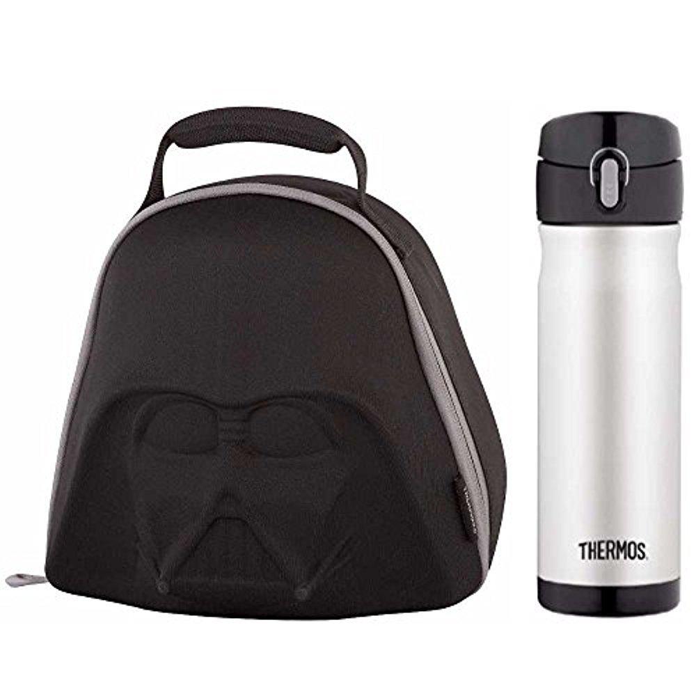 Thermos Star Wars Darth Vader EVA Helm Neuheit Mittagessen Kit w / 16 Oz Trinkflasche