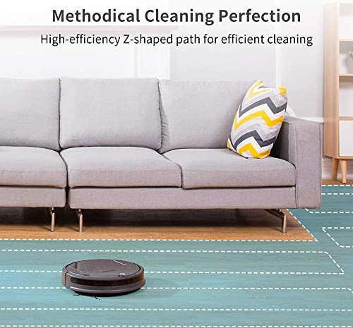 roborock E35 Robot Vacuum and Mop 2000Pa Strong Suction, App Control, and Scheduling, Route Planning, Handles Hard Floors and Carpets Ideal for Homes with Pets
