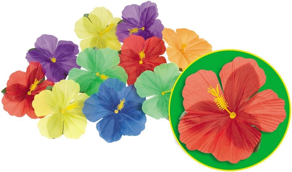 D/écoration Fleurie hawa/ïenne Accessoire d/éco Beach Party Ensemble de Fleurs artificielles d/écoratives NET TOYS 24 Fleurs dhibiscus