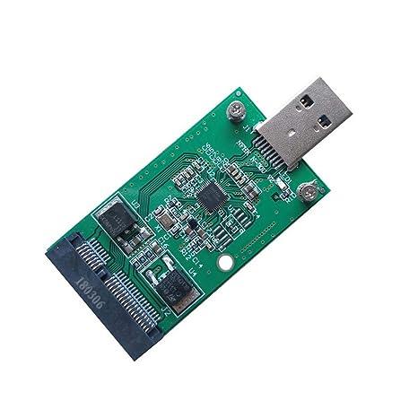 JMT Mini PCI-E mSATA a USB 3.0 Convertidor SSD Externo Módulo de ...