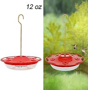 Juegoal Hummingbird Feeder (12 oz)