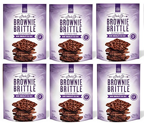 Brownie Brittle Gluten-Free Dark Chocolate Sea Salt, 5 oz, 6Count