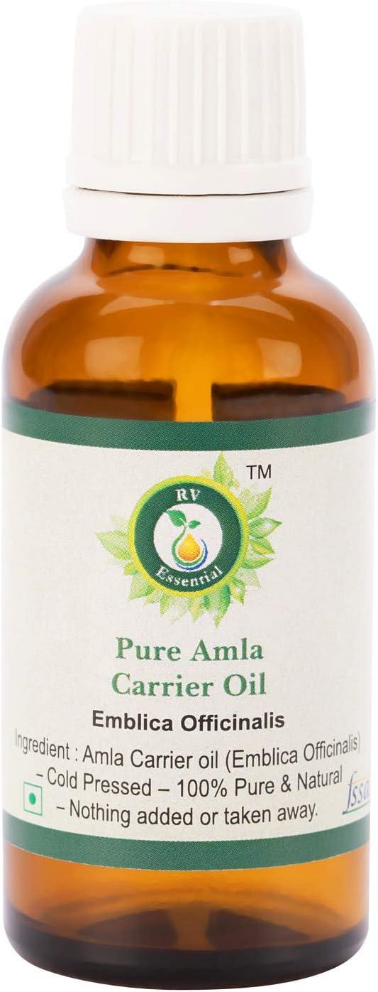 R V Essential Aceite puro de amla 30ml (1.01oz)- Emblica Officinalis (100% puro y natural raras serie hierba) Pure Amla Oil