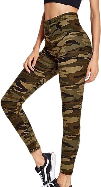 Sevozimda La Mujer Casual Pantalones Leggings Pantalones Camuflaje ...