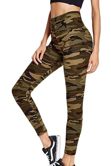 Sevozimda La Mujer Casual Pantalones Leggings Pantalones Camuflaje Tobillo Elastico