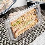 Thermo Tek 10 oz Triangle Clear Plastic Sandwich