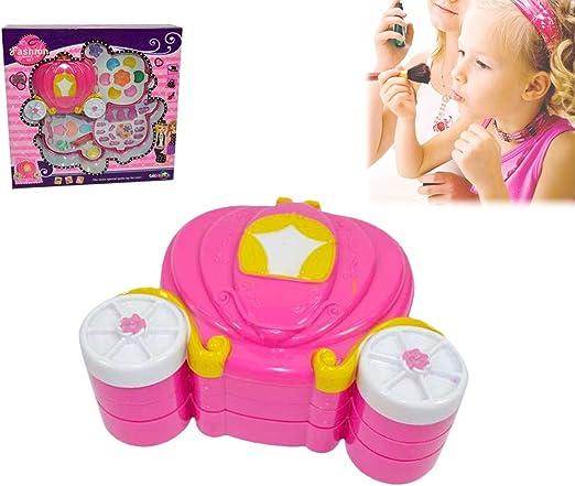 Estuche de maquillaje para niña, diseño de carroza-Juguete de imitación-MWS2022: Amazon.es: Hogar