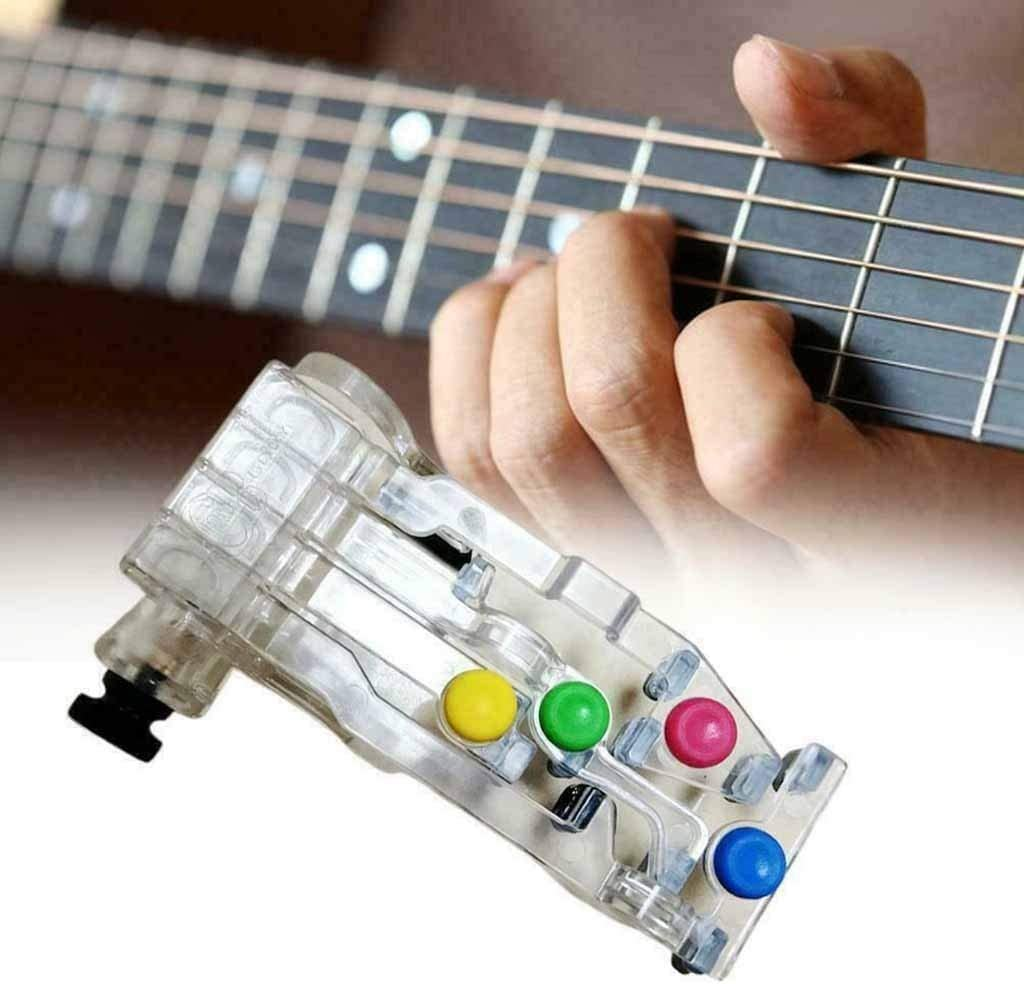 succeedtop ChordBuddy Guitar Learning System,Guitar Learning Tool,Guitar Teaching Aid,Left Handed Chord Buddy Guitar Teaching Learning System with Four Finger Protectors,Suitable for All Ages