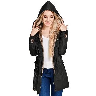Beinia Valuker WomensWinter Long Down Coat Warm Parka Faux Fur Lined Hooded