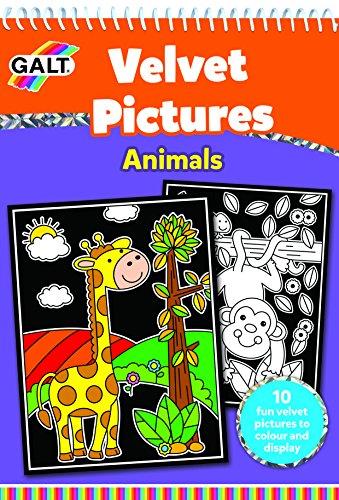 Galt Toys Velvet Pictures Animals Activity - Color Velvet To Pictures
