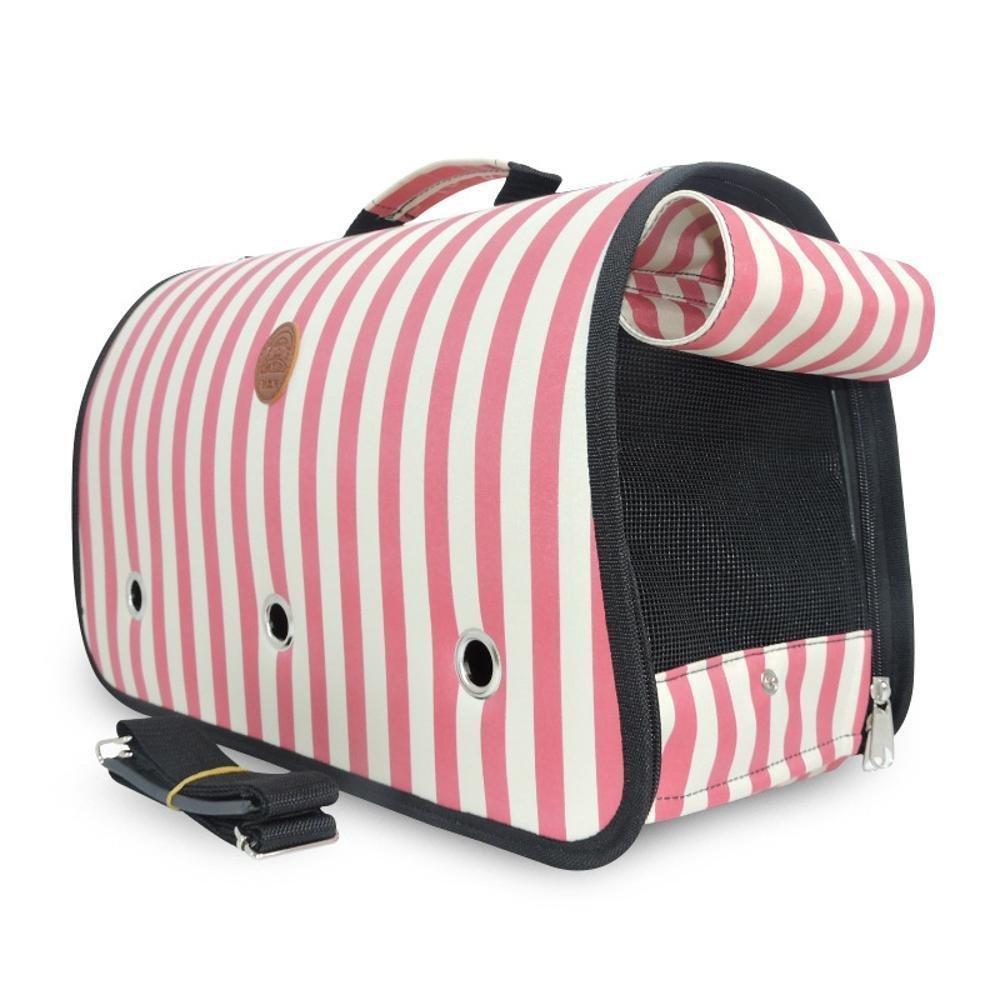 Daeou Zaino per animali domestici Gatto cane gabbia singola spalla portatile pieghevole borsa da viaggio