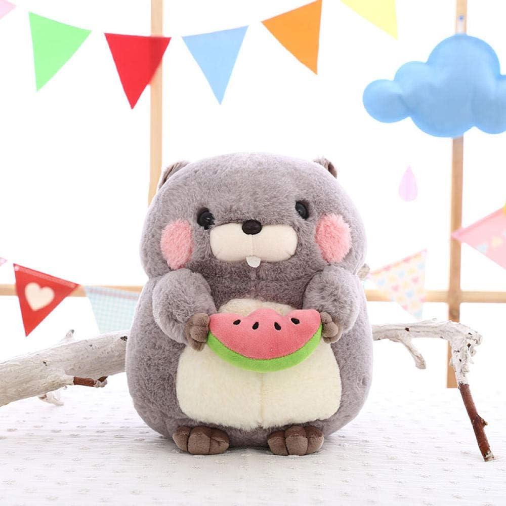 Peluche jouet super mignon mignon oreiller de la marmotte chiffon poup/ée de mariage poup/ée enfants cadeau danniversaire-Gris marmotte/_25 cm
