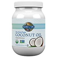 Garden of Life Organic Extra Virgin Coconut Oil - Unrefined Cold Pressed Coconut Oil for Hair, Skin and Cooking, 56 Ounce
