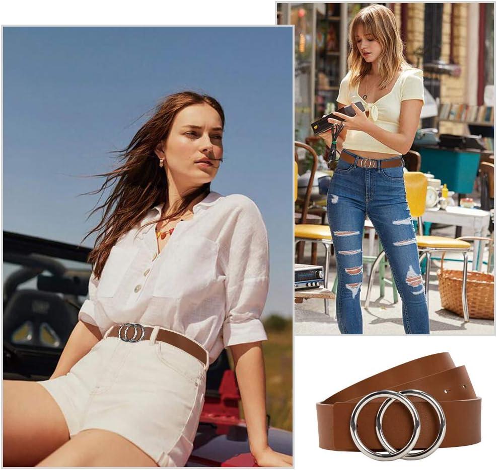 S Brown Belts Woman Leather Belt for Jeans Fashion Desinger Waist Belt LOKLIK
