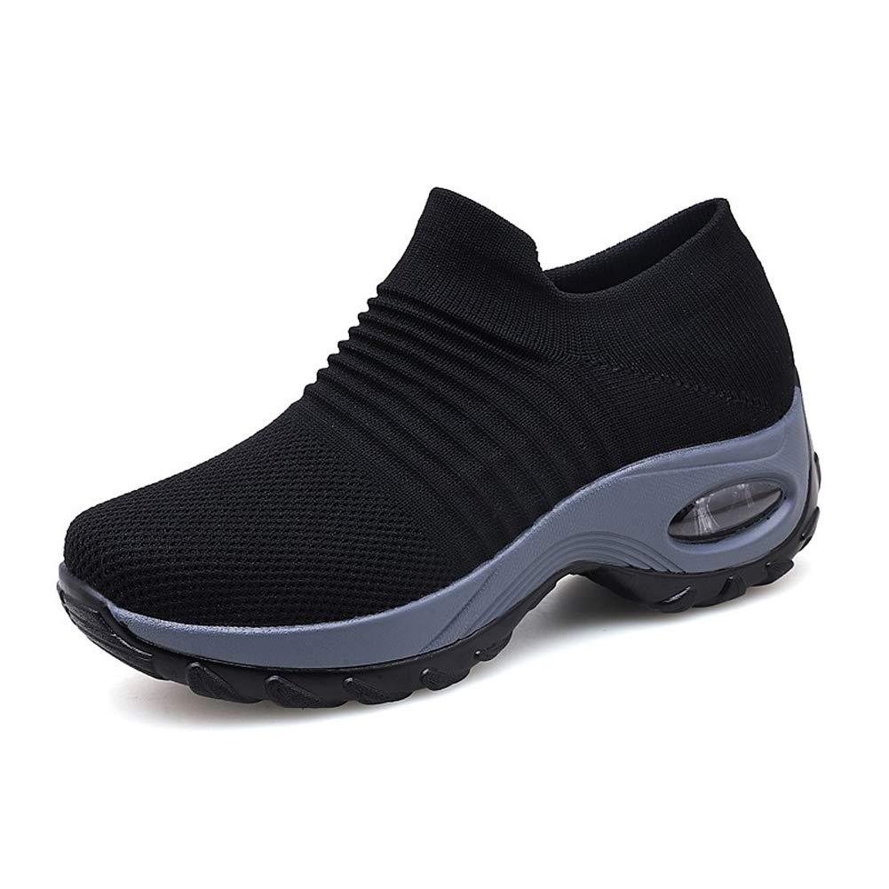 70cdf2851e Zapatillas Deportivas de Mujer Gimnasio Zapatos Running Deportivos Fitness  Correr Casual Ligero Comodos Respirable Negro Gris Morado 35-42