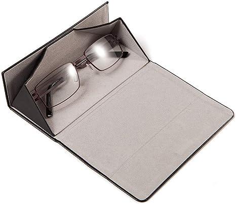 MoKo Caja de Gafas Plegable Triangular Estuche Protectora de Cuero de PU de Gafas de Sol Ligeras Port/átiles con Cierre de Im/án y Pa/ño de Limpieza para Hombres Mujeres J/óvenes y Ni/ños